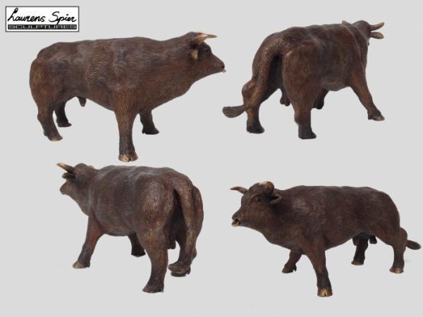 Bruine stier in brons