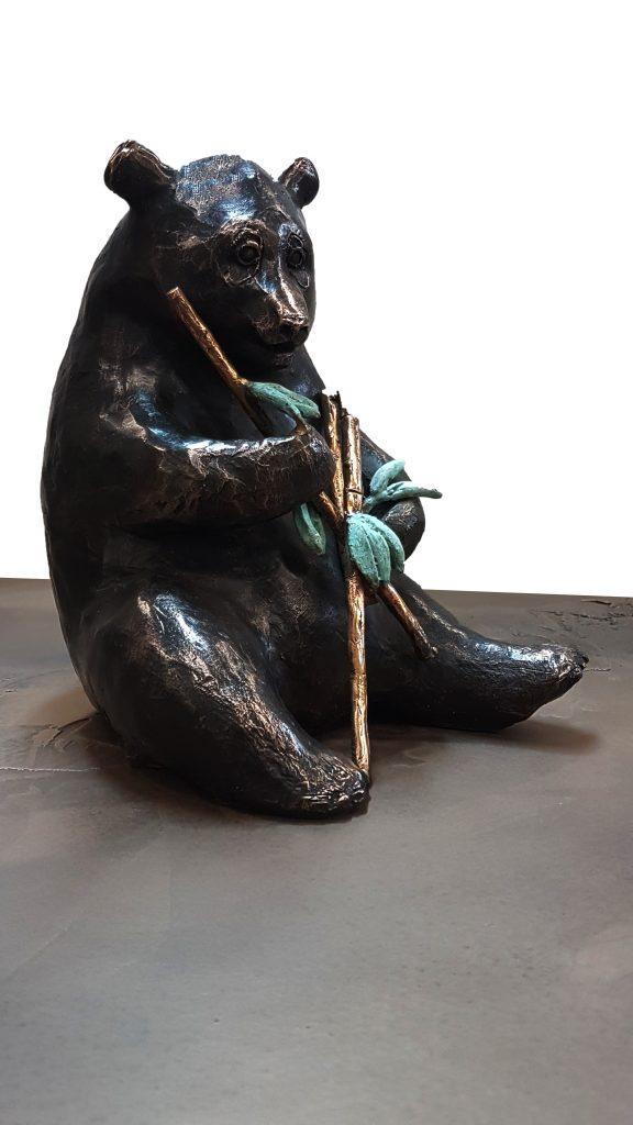 Pandabeer in brons